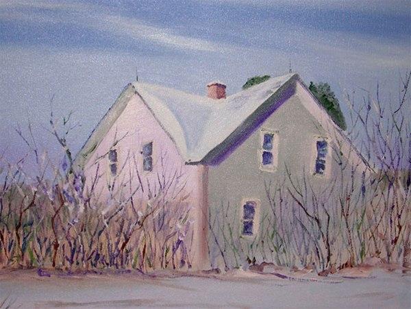 December Twilight - oil painting by Ed Fenendael