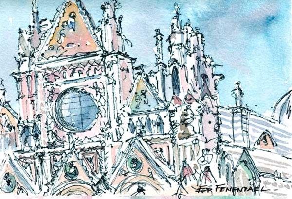 Duomo Sienna - print by Ed Fenendael