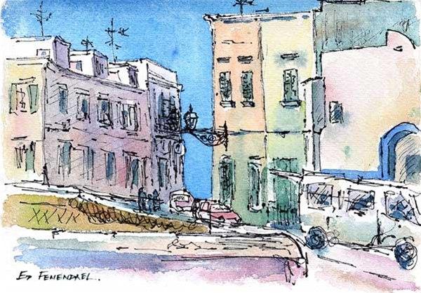 Gallipoli - Italy - print by Ed Fenendael