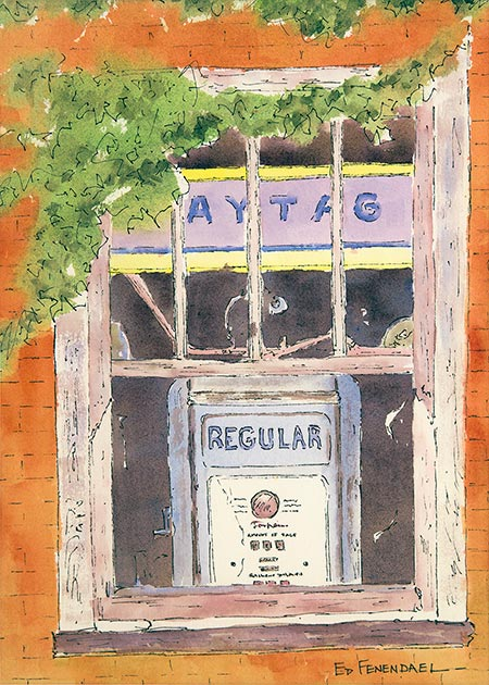 Maytag & Regular - watercolor by Ed Fenendael