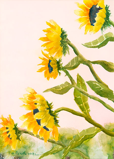 Ode to Joy - watercolor by Ed Fenendael