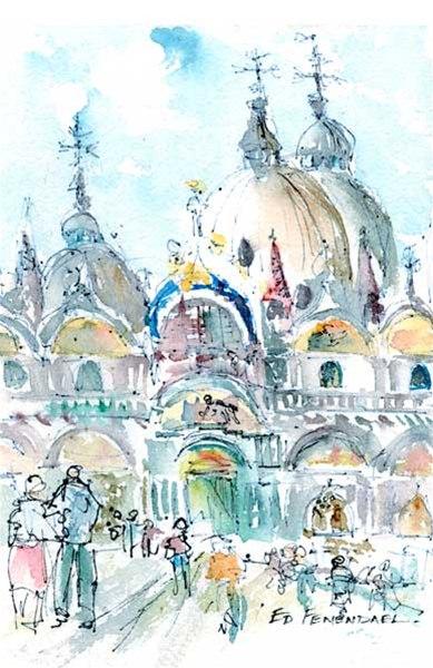 San Marco, Venice - print by Ed Fenendael