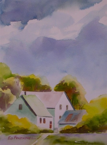 Seasonal Rebirth - watercolor by Ed Fenendael