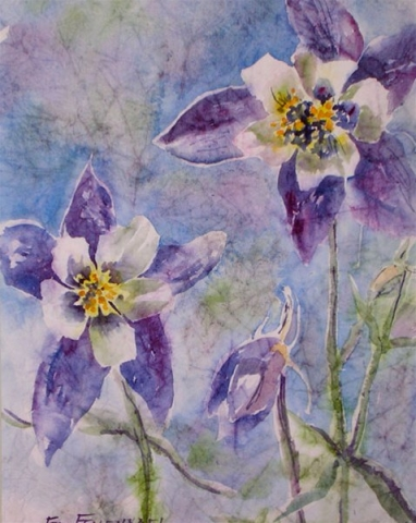 Simple Pleasures - watercolor & masa by Ed Fenendael