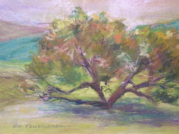 Strength and Solitude - pastel by Ed Fenendael