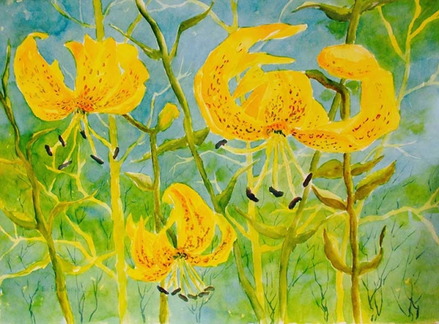 Symphonic Summer - watercolor by Ed Fenendael