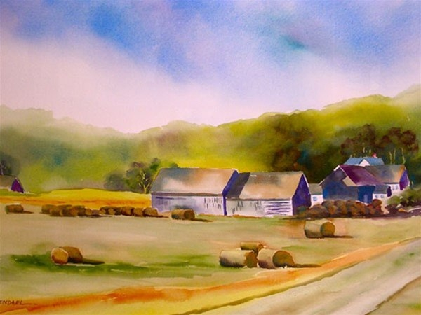 The Old Farmstead - watercolor by Ed Fenendael