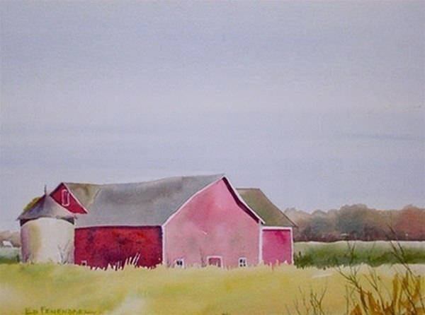 The Old Silo - watercolor by Ed Fenendael