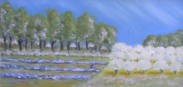 The Orchard 2 - oil painting by Ed Fenendael