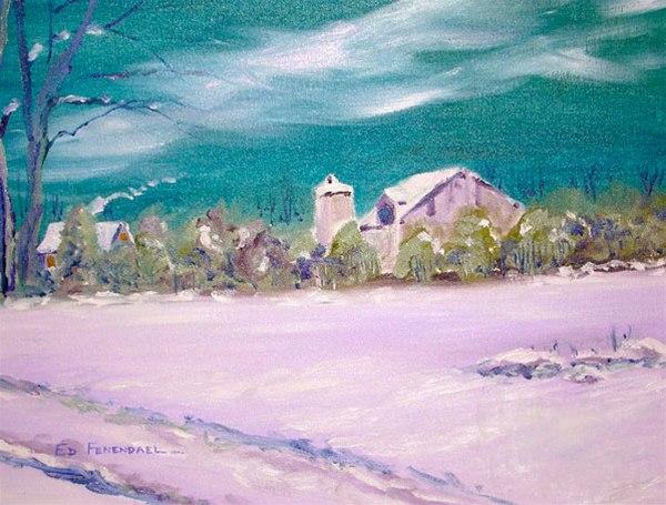Tucked In - Oil painting by Ed Fenendael