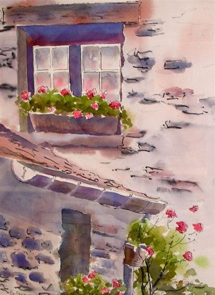 We Remember - watercolor & ink by Ed Fenendael