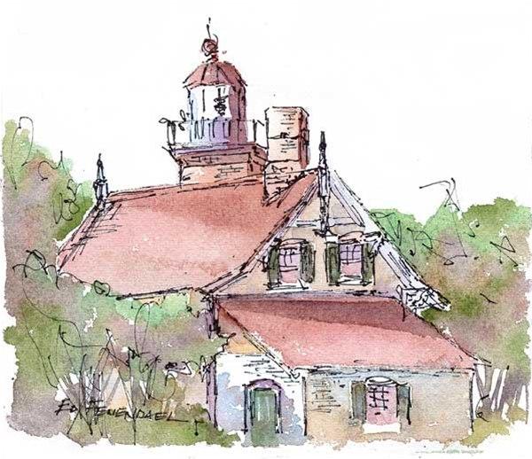Eagle Bluff Light House - Print
