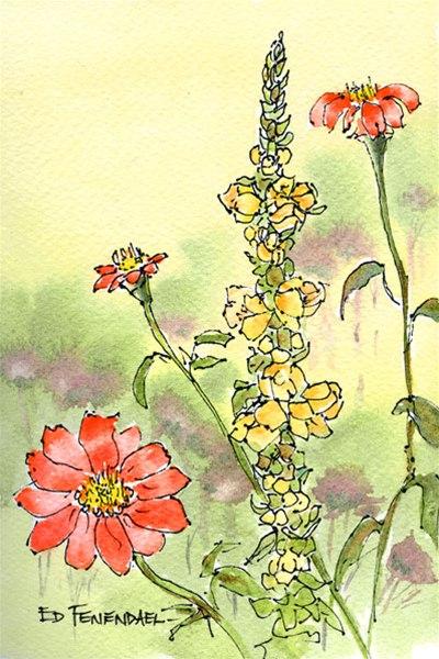 Floral ala Monet - Print