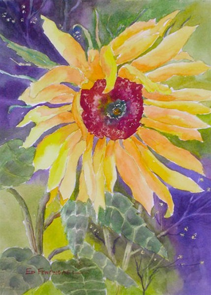 Glorious Sunshine - watercolor by Ed Fenendael