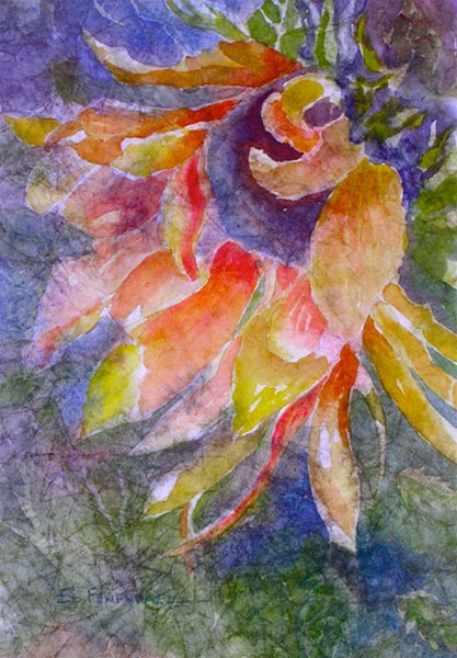 In the Wind - watercolor & masa by Ed Fenendael