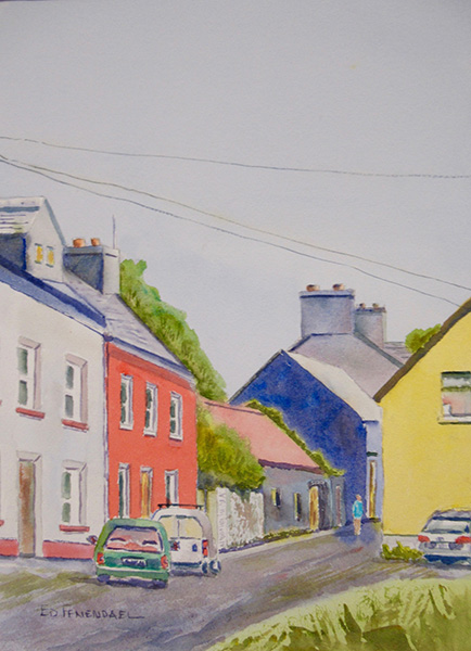 Irish Morning - Watercolor Painting