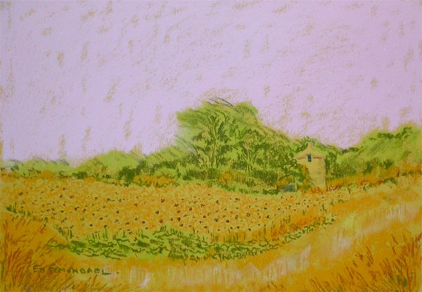 The Lone Silo - Pastel