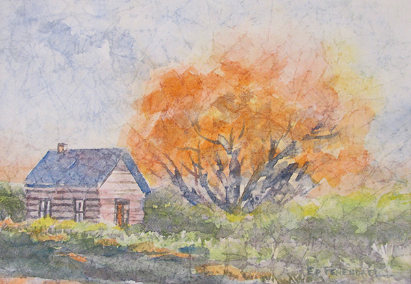 The Old Cottage - Watercolor/Masa